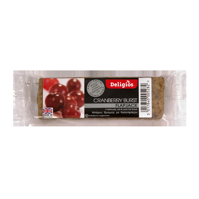 DeligiosFlapjack-Protein-cranberries