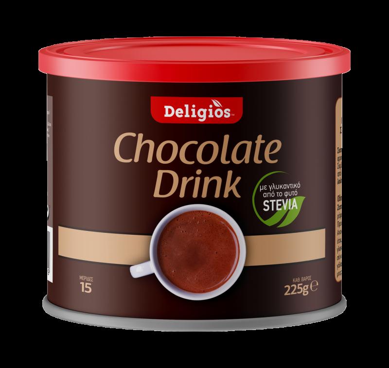 ρόφημα σοκολάτας με στέβια